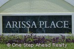Arissa Place sign
