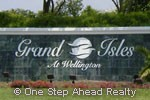 Grand Isles at Wellington sign