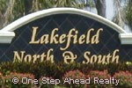 Lakefield North & Lakefield South sign